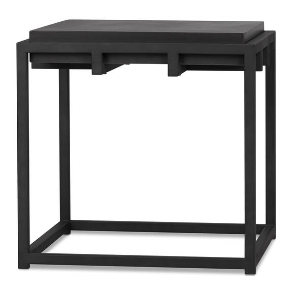 Crete Square Side Table -Ida Black