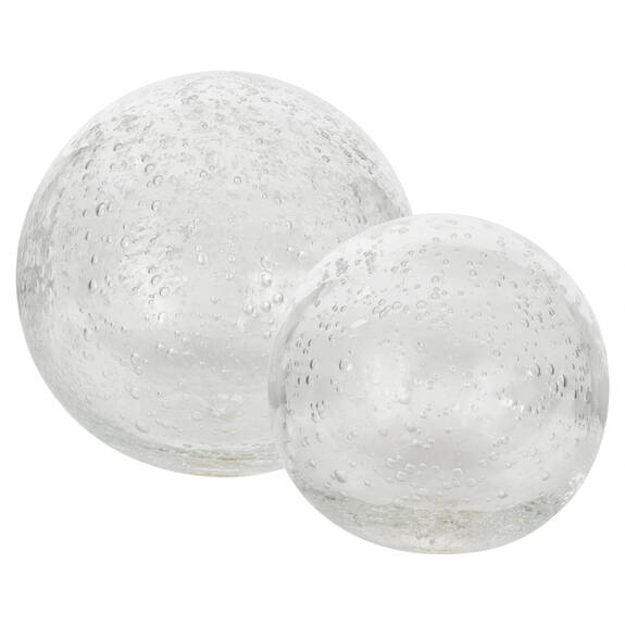 Anora Glass Decor Balls - Clear