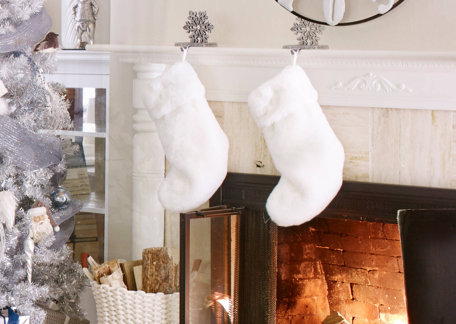 Blizz Snowflake Stocking Holder Silve