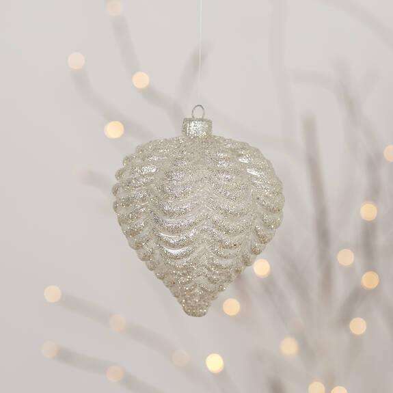 Seraphina Bulb Orn Silver