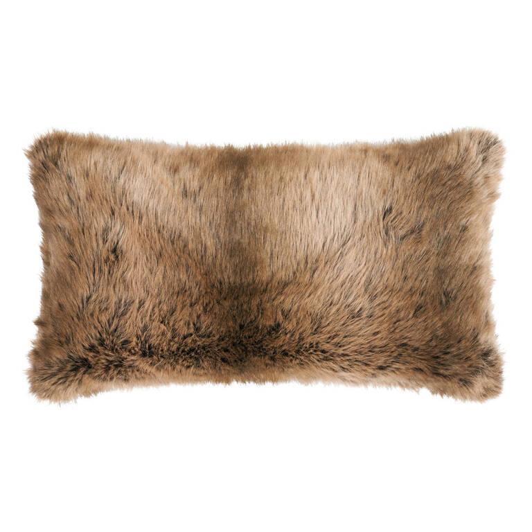 Fauna Faux Fur Toss 12x22 Sable