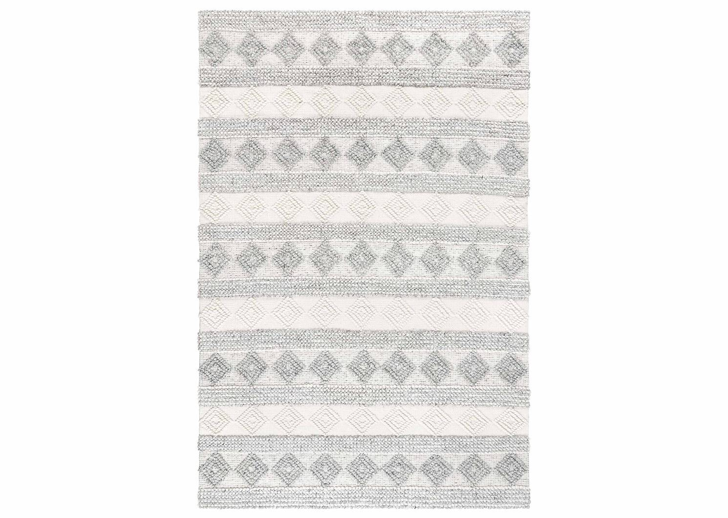 Arkun Rug - White/Grey