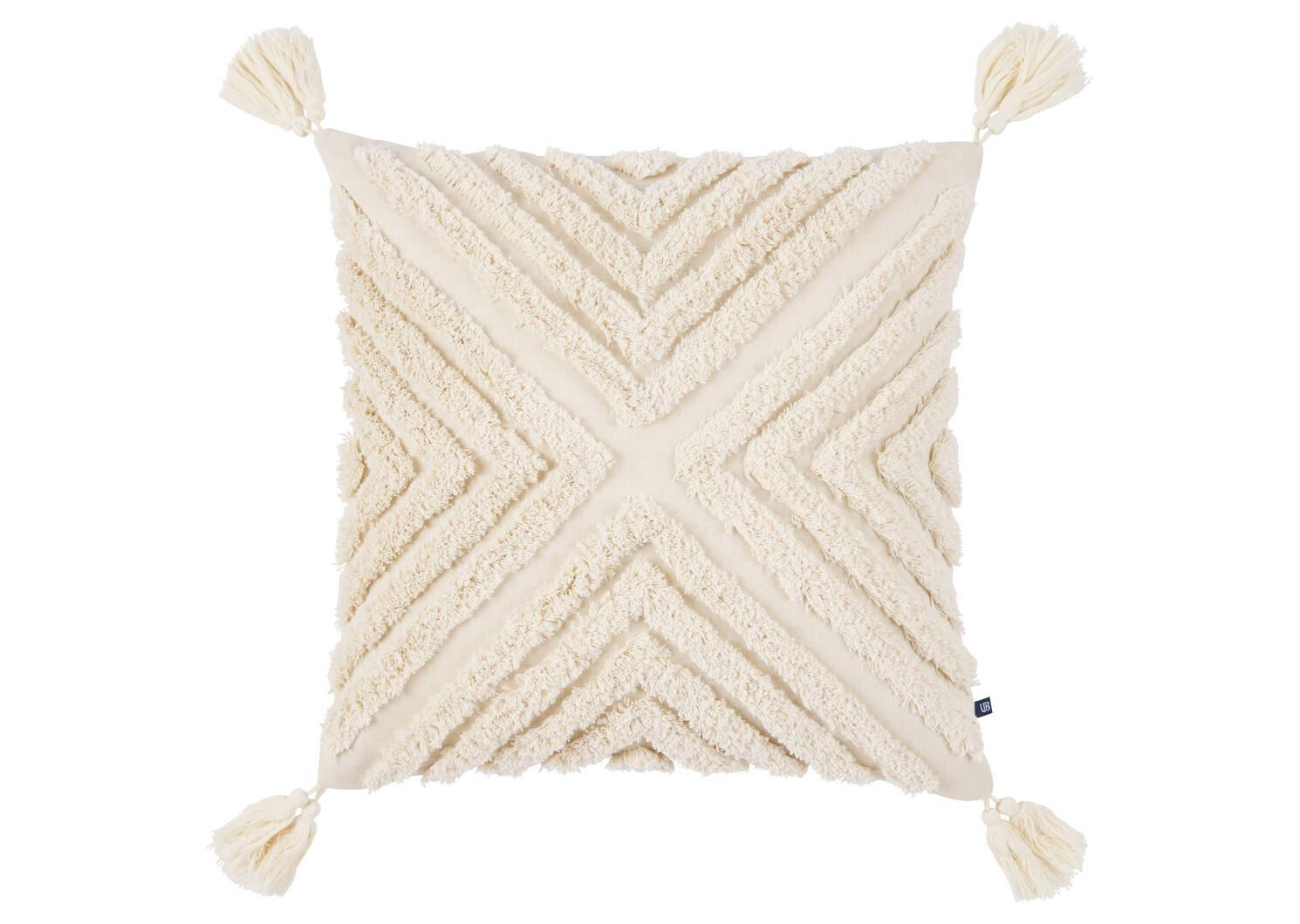 Dishani Toss 20x20 Sand/Ivory