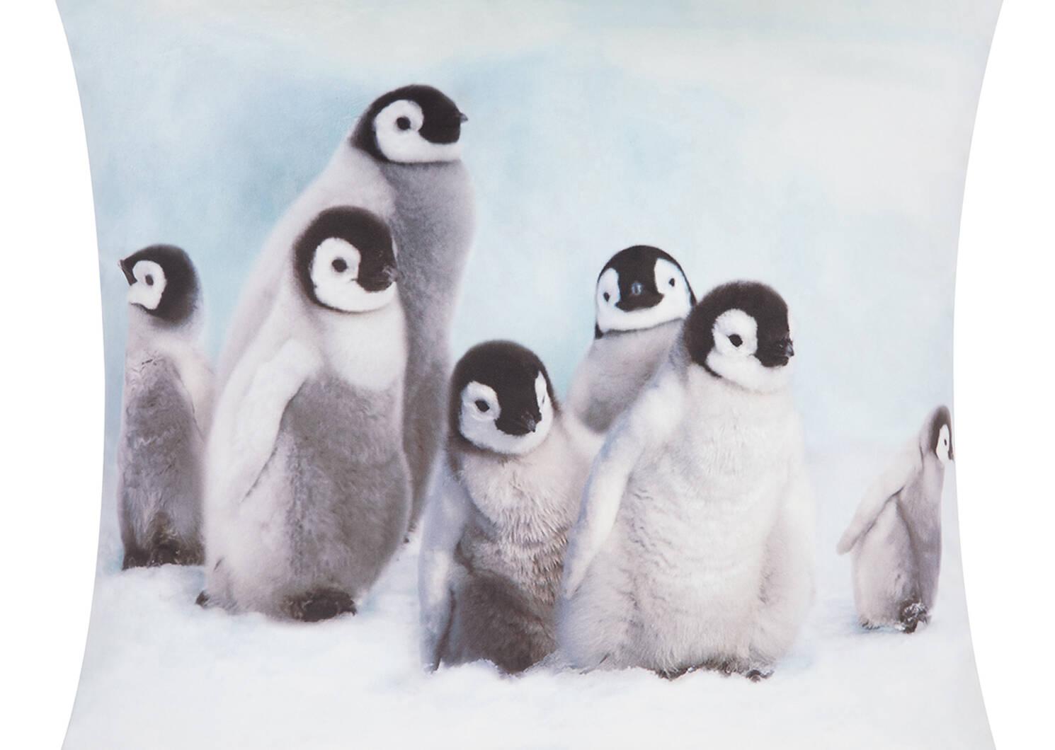 Penguin Chicks Toss 20x20 White
