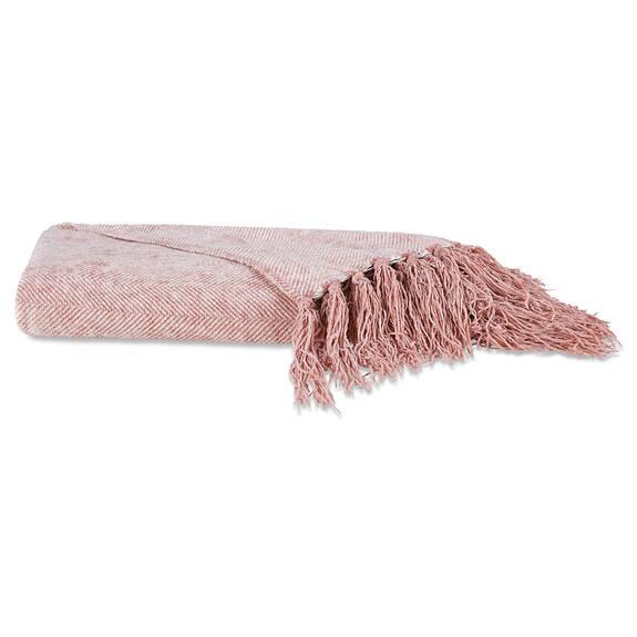Calliope Throw Milk/Ballet Pink