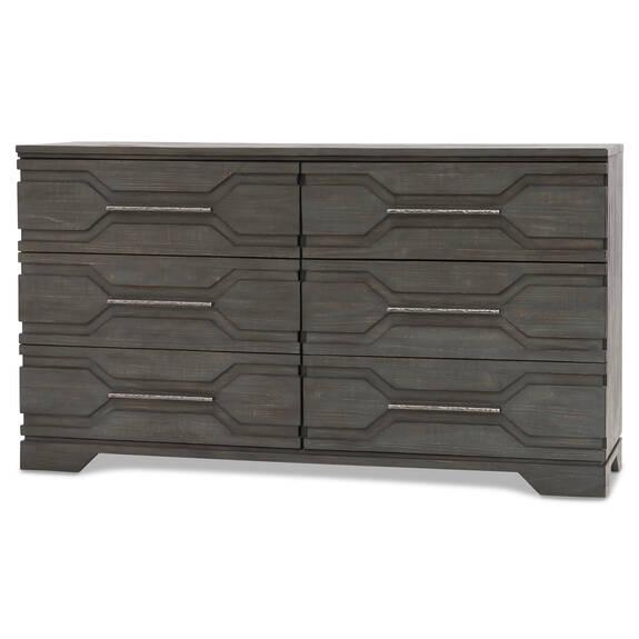 Seville 6 Drawer Dresser-Moreno Grey