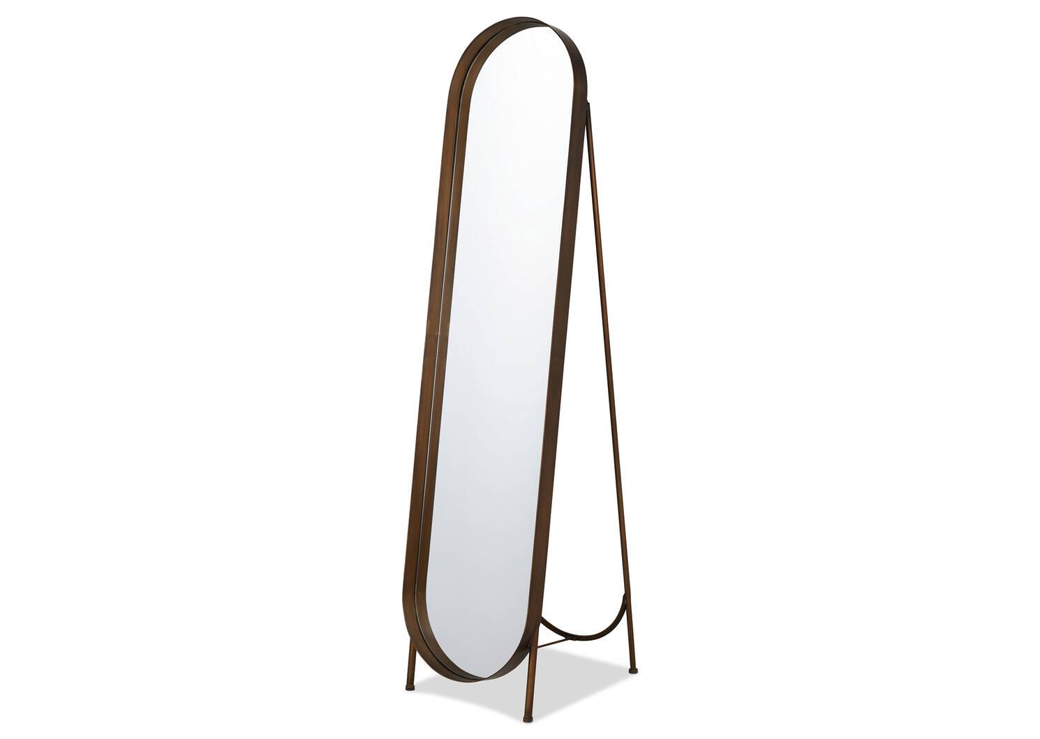 Britton Floor Mirror Brass