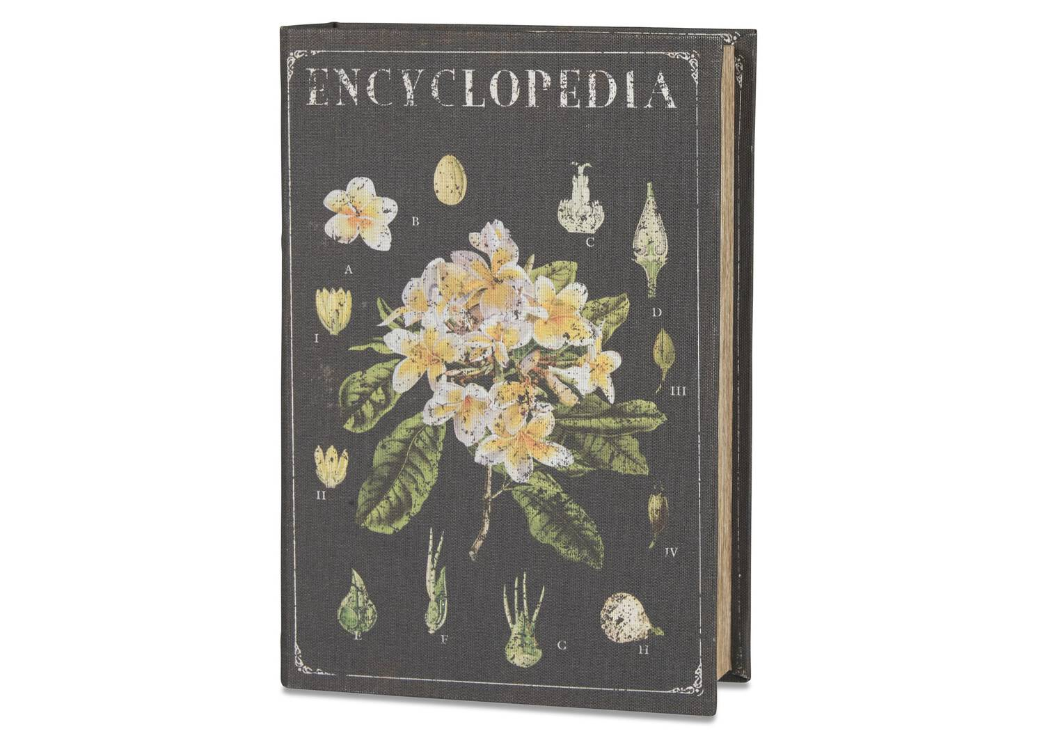 Grande boîte-livre Encyclopedia noire
