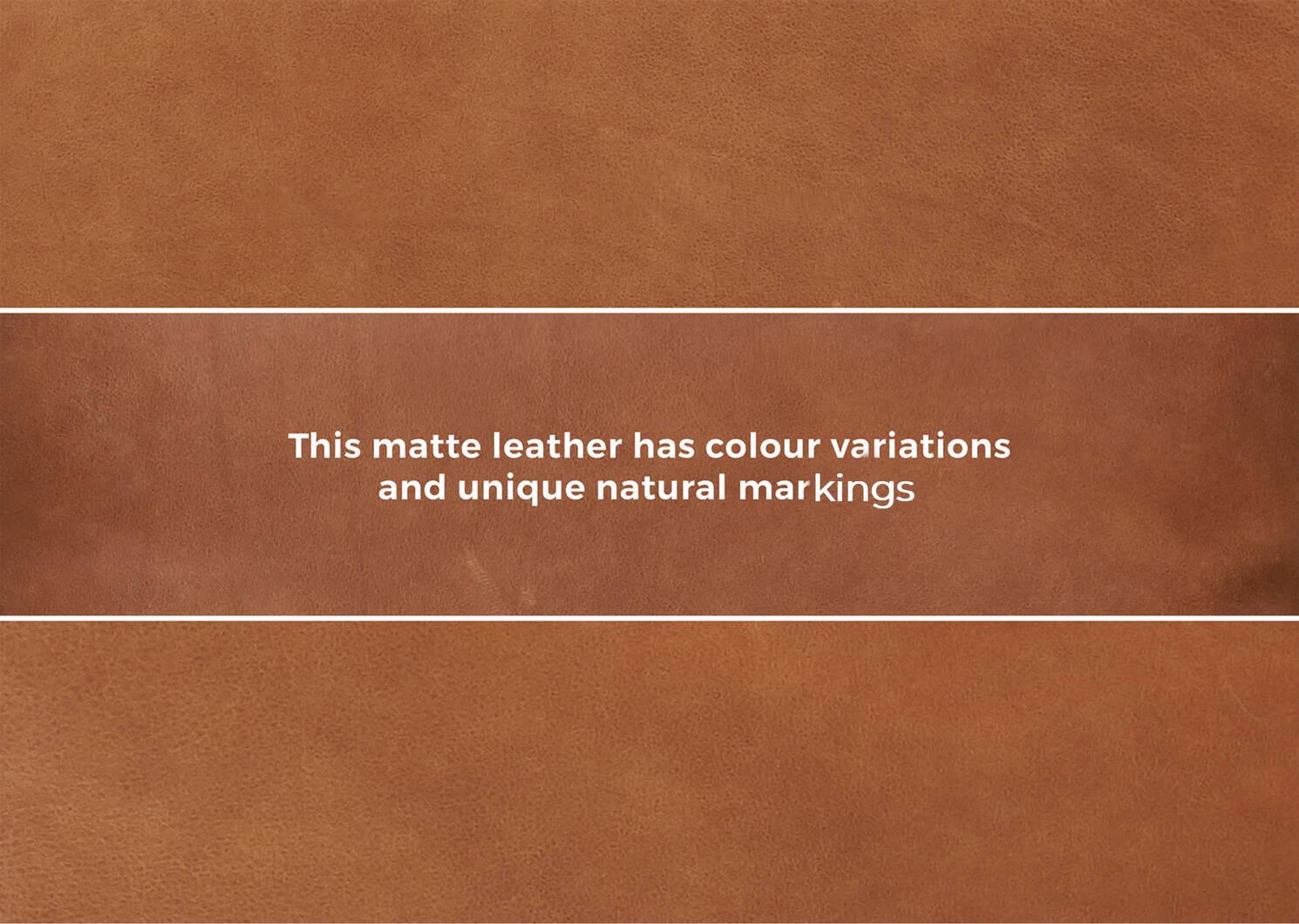 Lucca Leather Sofa -Attica Cinnamon