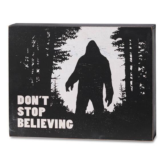 Bloc écriteau Don't Stop Believing