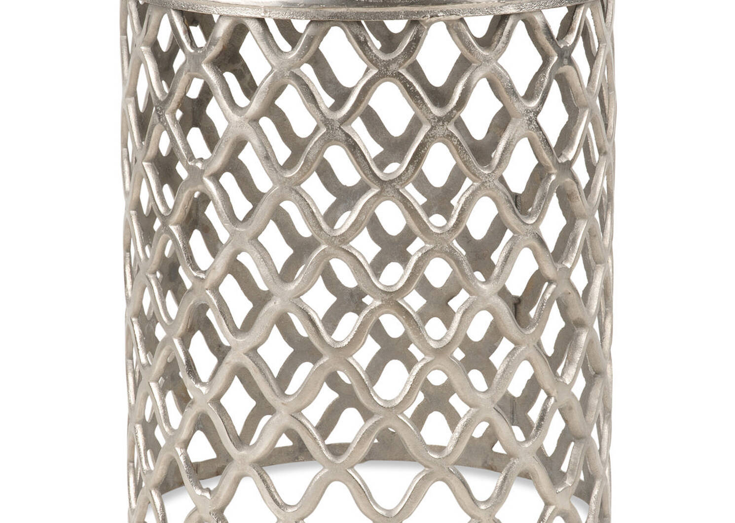 Table d'appoint Ashbury -nickel brut