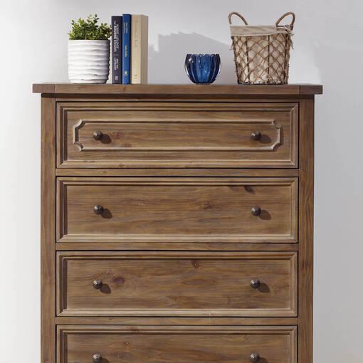 Sussex 5 Drawer Chest -Brulé Pine