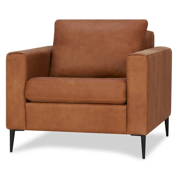 Lucca Leather Armchair -Attica Cinnamon