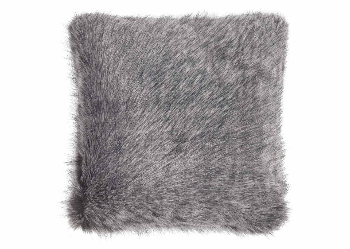 Northern Faux Fur Toss 20x20 Silver F