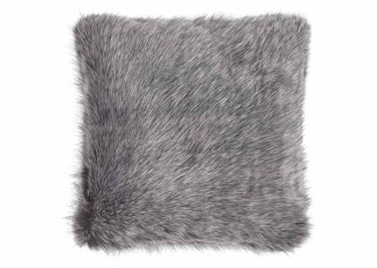 Northern Faux Fur Toss 20x20 Silver Fox