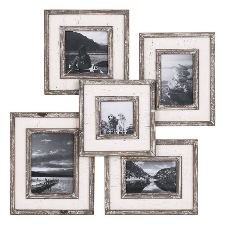 Ashworth Collage Frame Grey White
