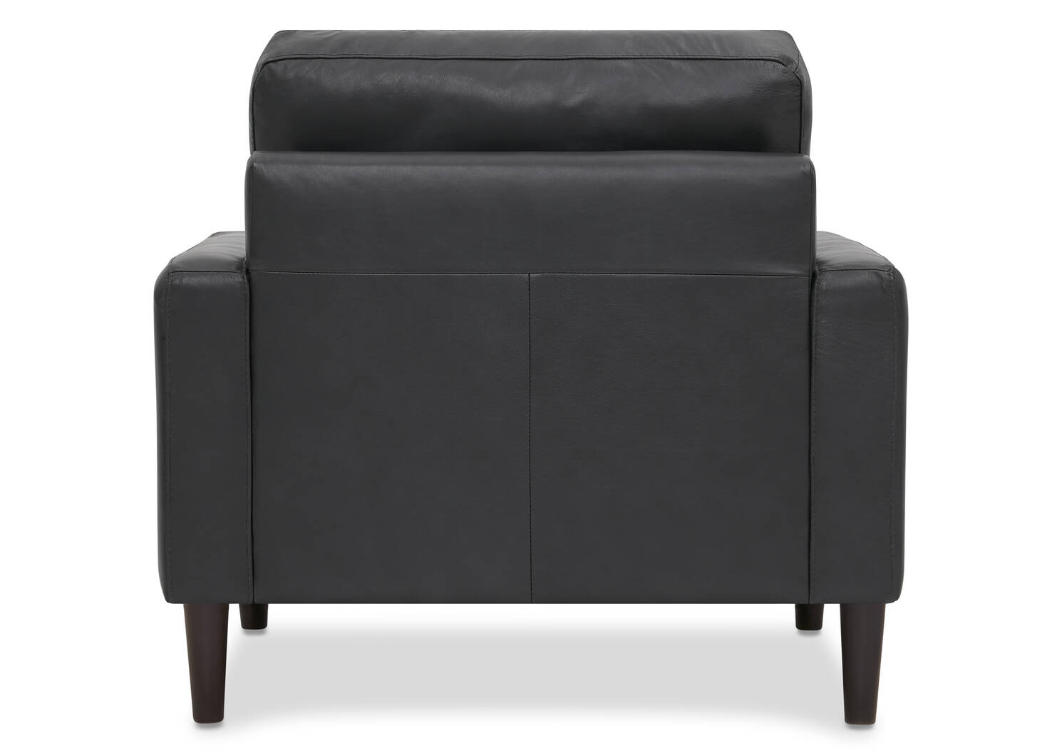 Savoy Leather Armchair -Jett Anthracite