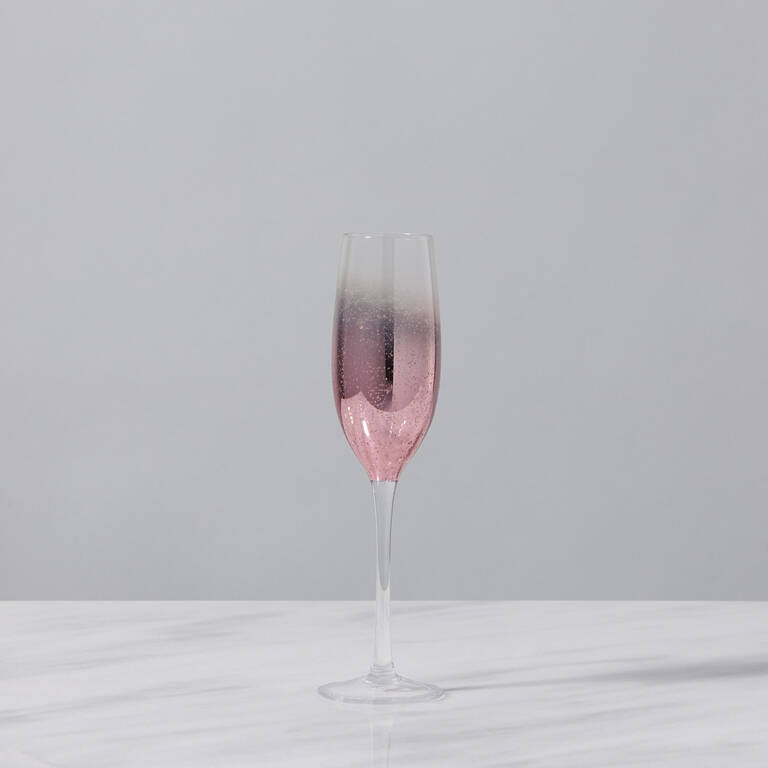 Shimmer Champagne Flute Rose Gold