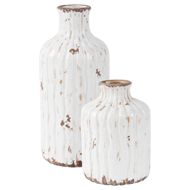 Maliah Vases - Antique White