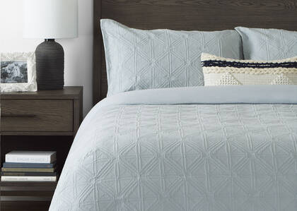 Arden Duvet Sets Light Blue