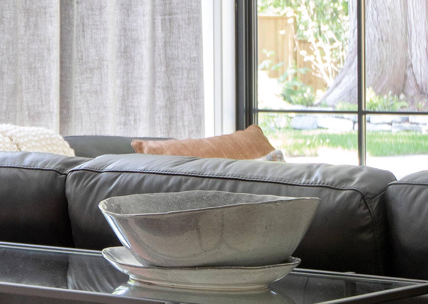 Crofton Glazed Serving Bowl Dark Grey