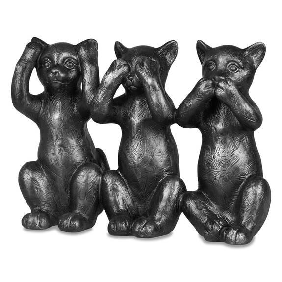 Déco de chat No Evil noire