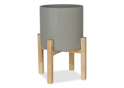 Adah Standing Planter Large Grey