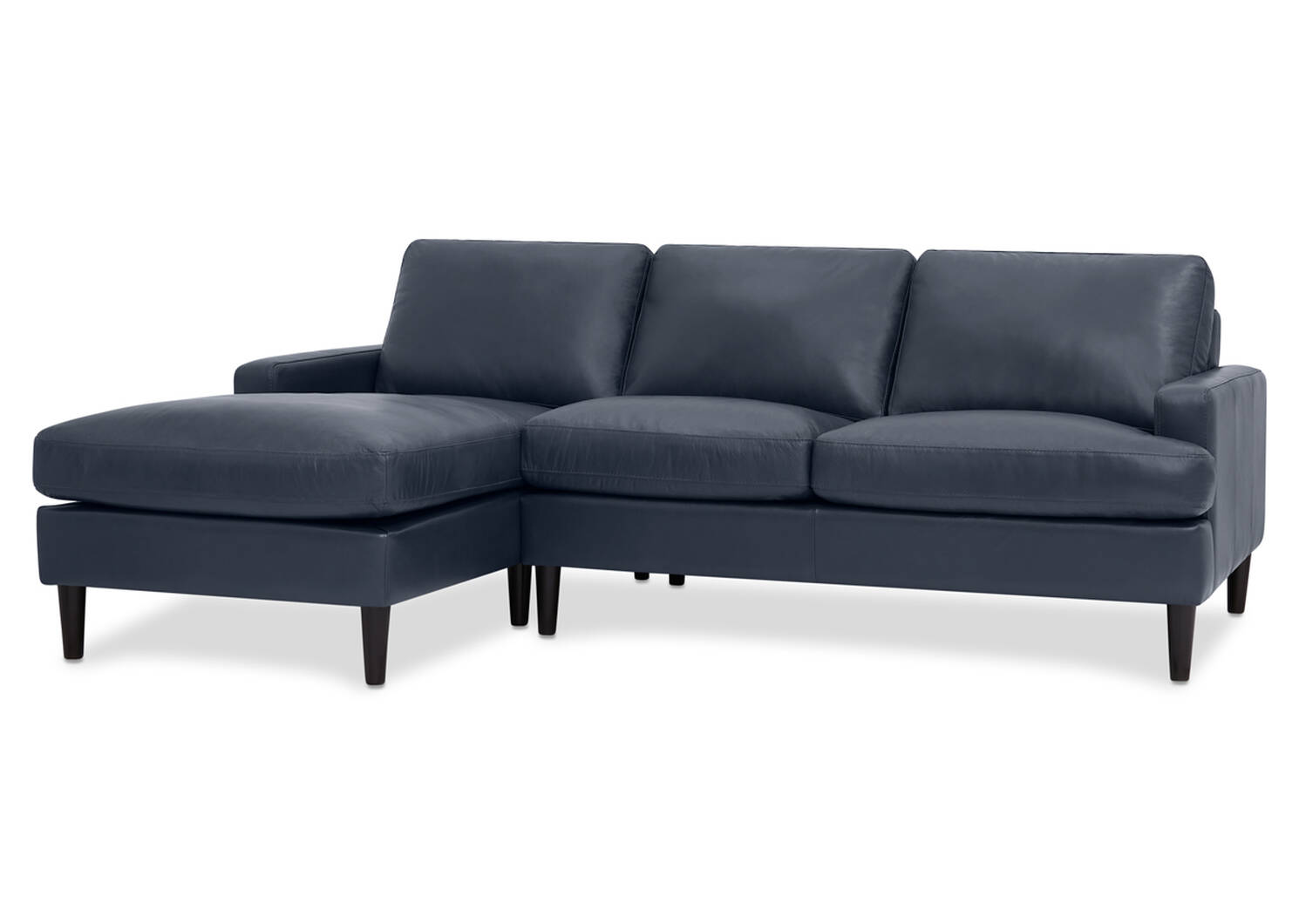Savoy Custom Leather Sofa Chaise