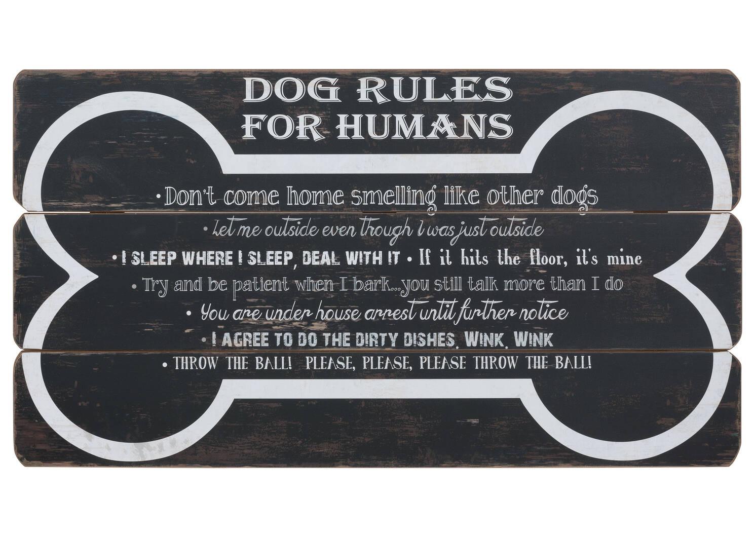 Déco murale Dog Rules