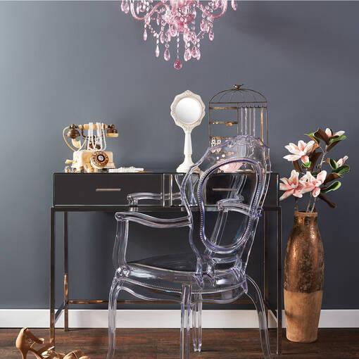 Bureau-table console Monroe -miroir