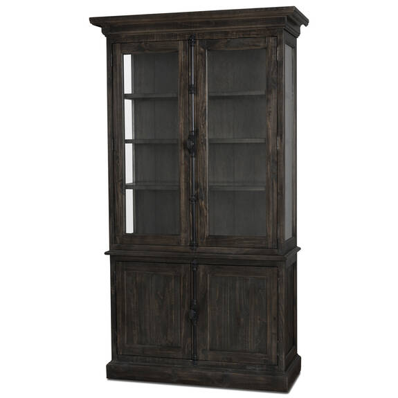 Churchill Display Cabinet -Carob