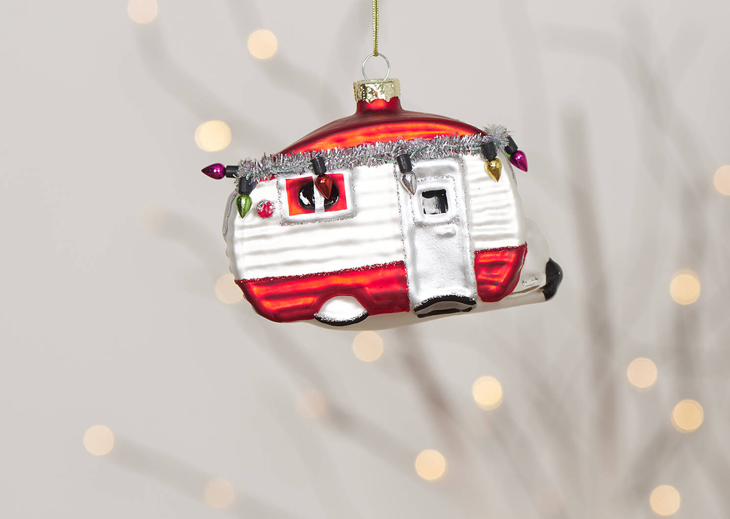 Holiday Camper Ornament Red