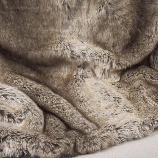 Habitat Faux Fur Throw Mink
