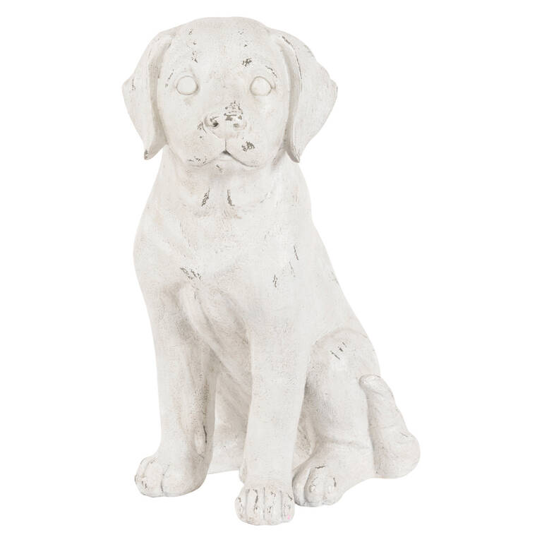 Buster Puppy Sculpture Antique White