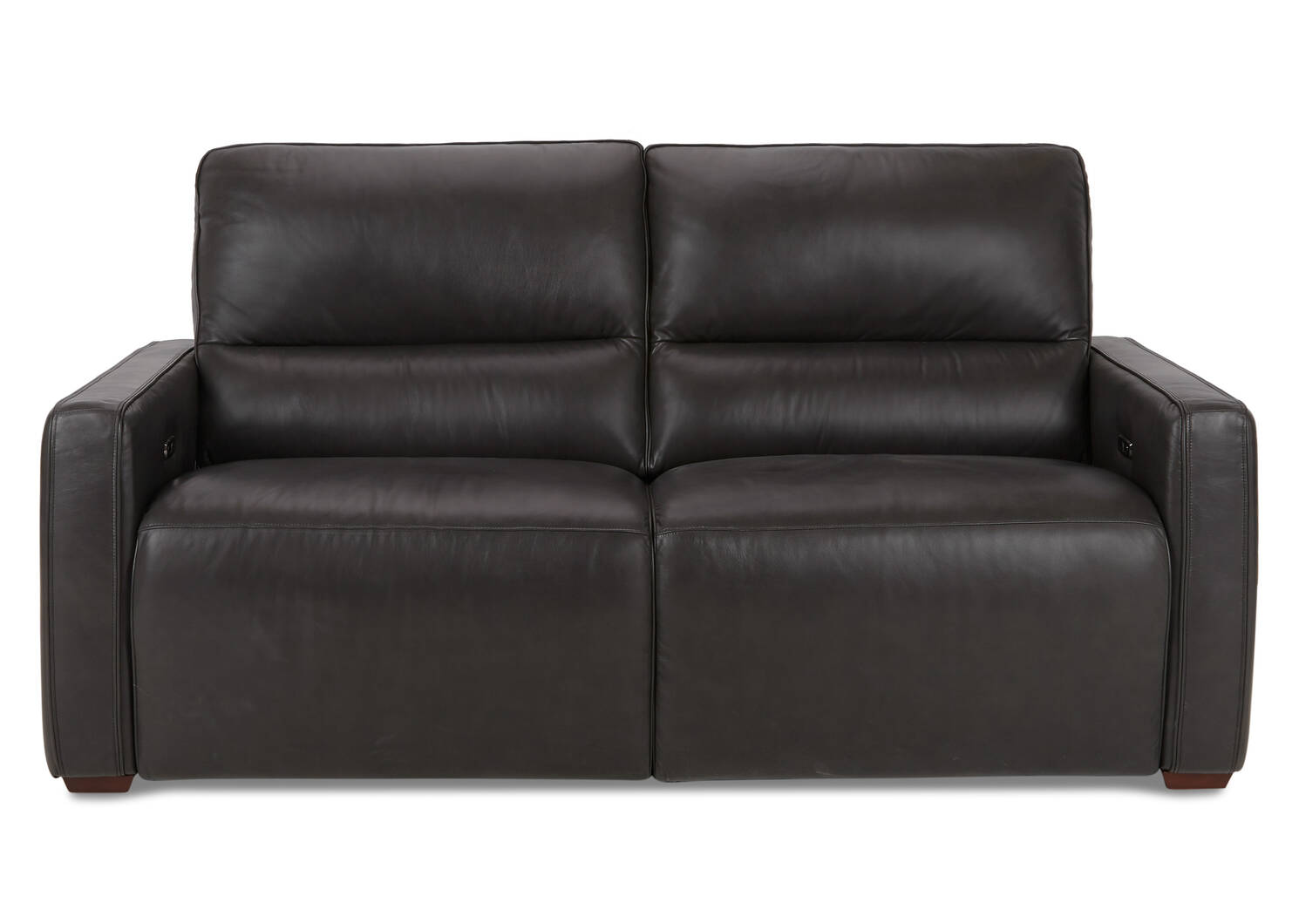 Encore Leather Reclining Sofa -Bram Coal