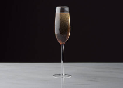 Flûte à champagne Niva terracotta