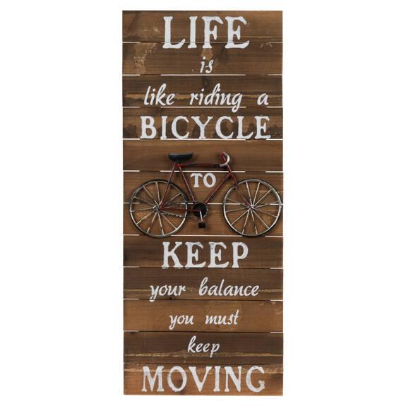 Bicycle Balance Wall Plaque