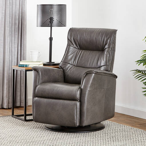 Fauteuil inc. cuir Paramount -Sol ard.