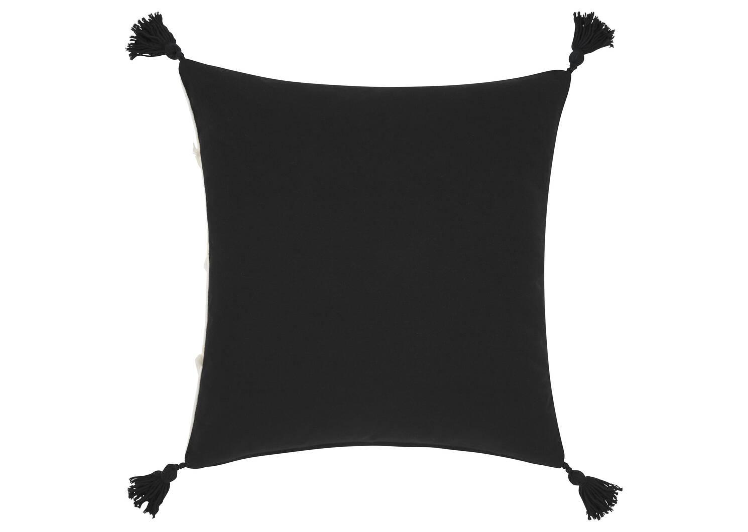 Coussin Gita 20x20 ivoire/noir