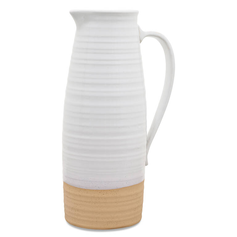 Lois Pitcher Vase White Large