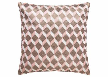 Coussin Gregory 20x20 rose ballet/bronze