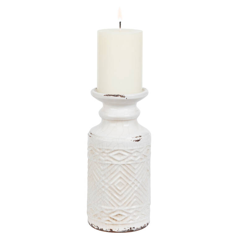 Tyree Candle Holder Large White