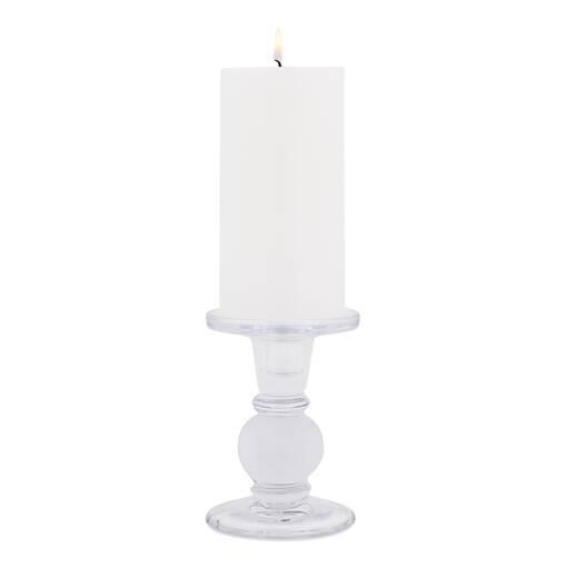 Octavia Candle Holder Short Glass