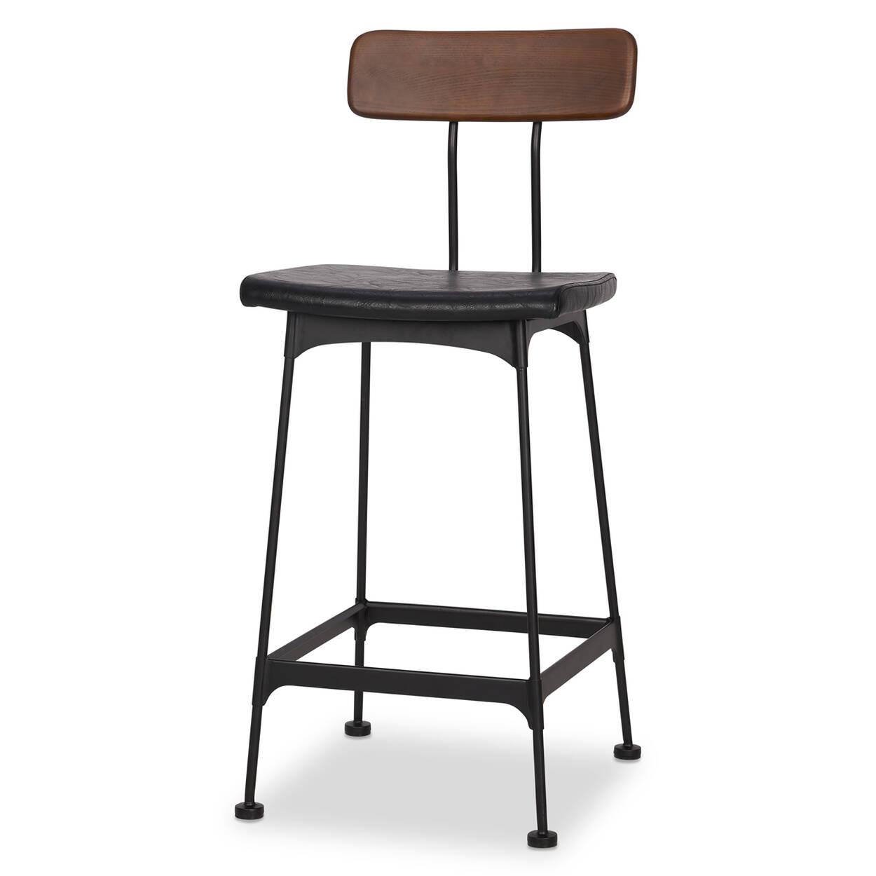 Swell Gleason Counter Stool Black Beatyapartments Chair Design Images Beatyapartmentscom