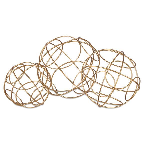 Boules décoratives Ariella -laiton