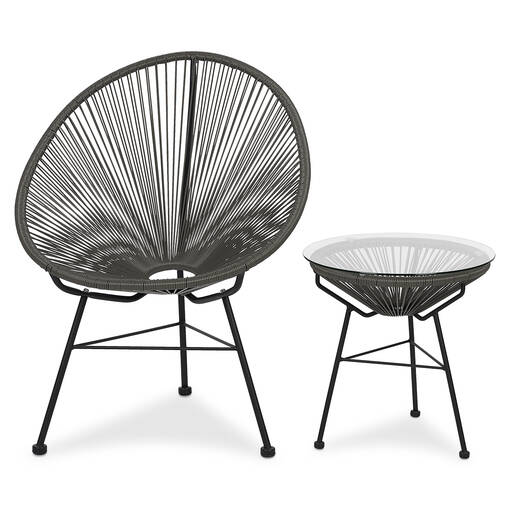 Table d'appoint Fresno -Tao gris