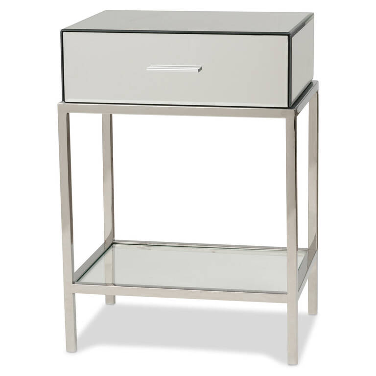 Monroe Side Table -Mirror