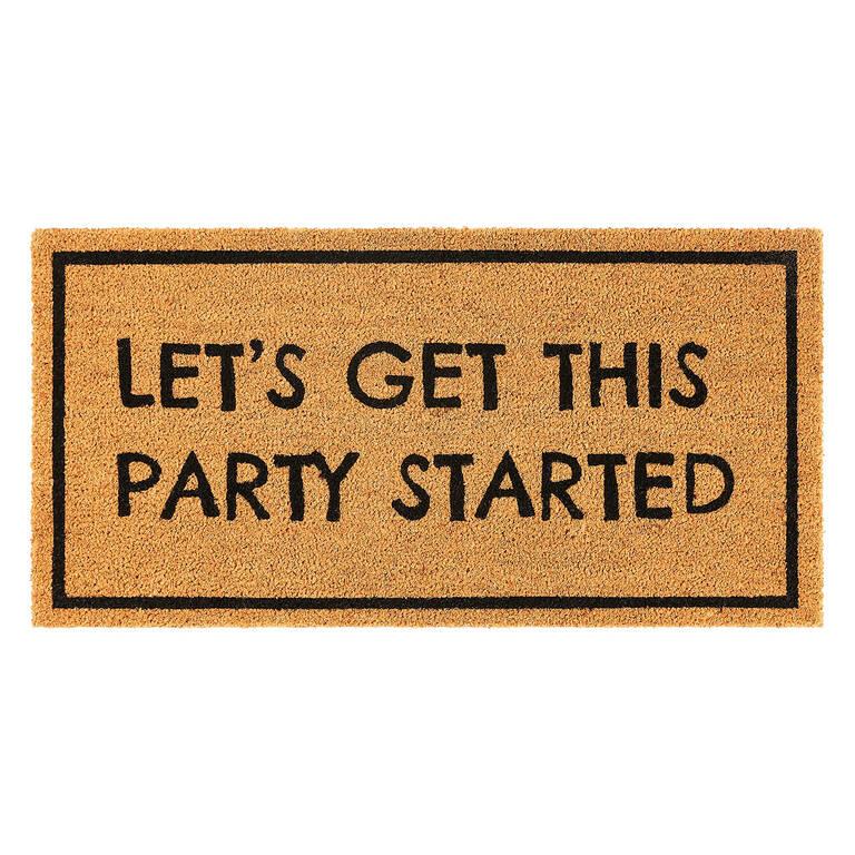 Party Started Doormat