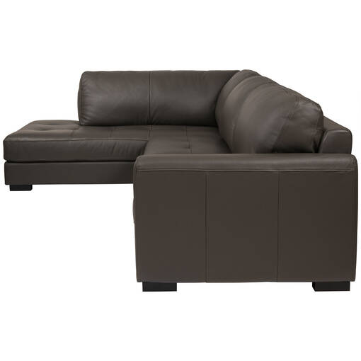 Boone Leather Sofa Chaise -Grey, LCF