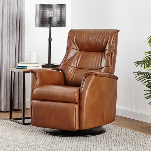 Paramount Leather Recliner -Sol Cinnamon